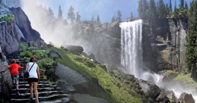 Mist Trail near Vernal falls, Yosemite National Park