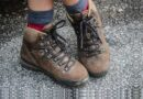 Hiking Shoes on Concrete